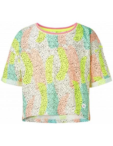 T-shirt crop top imprimé