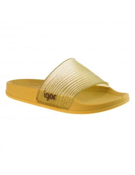 Girl's sandals glitter gold