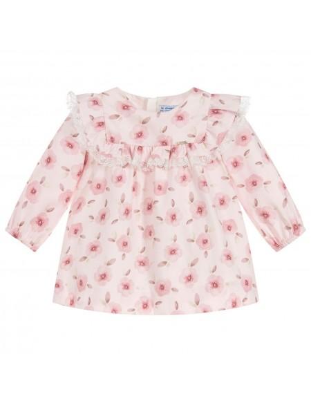 Robe bébé en coton imprimé floral