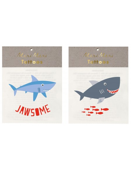 Tatouages éphémères créatures des mers